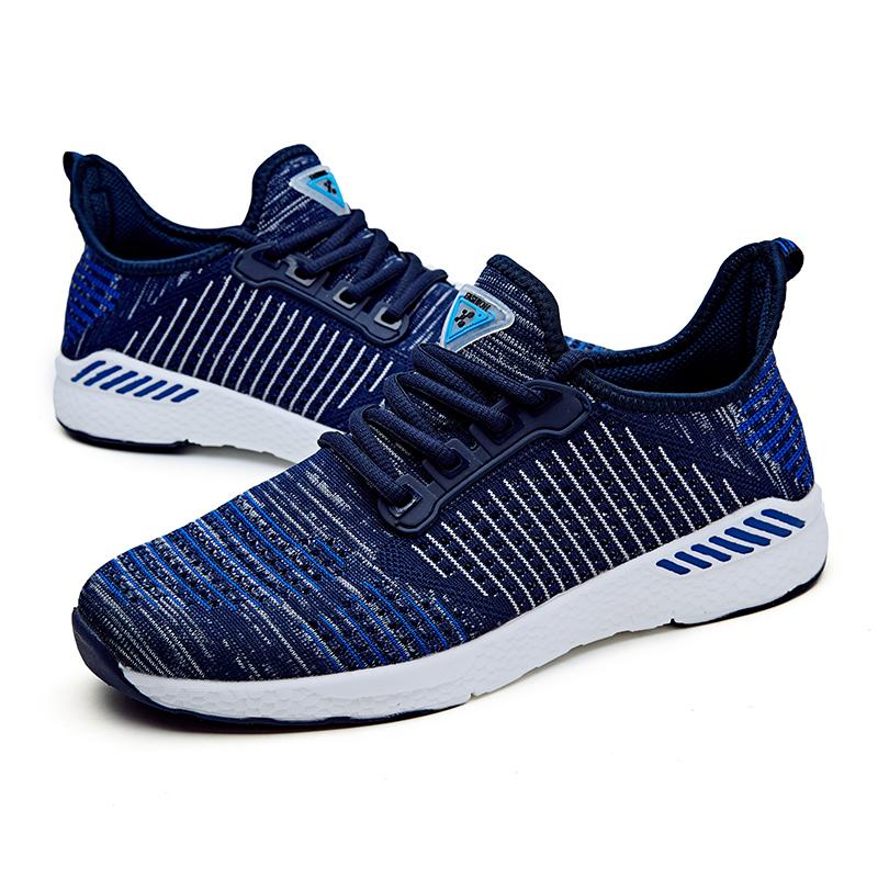 2019 Unisex New Air Mesh Running Rubber Shoes For Men Outdoor Breathable Comfortable Athletic Flat Women Sports Sneakers