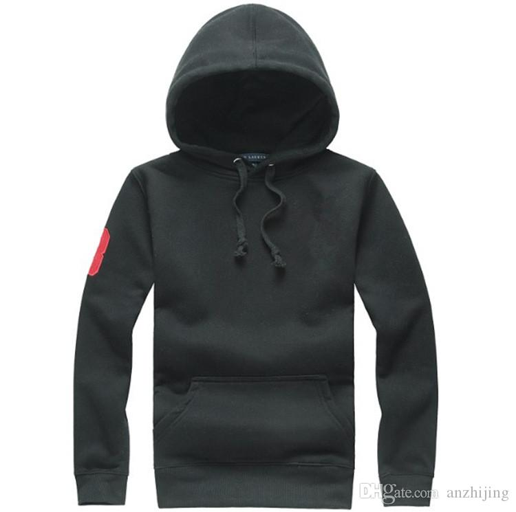el envío libre 2019 sudaderas con capucha de los hombres Outwear Caballos Sudaderas Cartas de moda de alta Huality hombres de la marca de chaquetas con capucha Sudaderas 7 colores