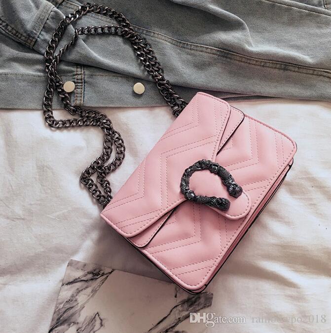 Factory wholesale brand women handbag fashion embroidery line the single shoulder bag ins ultra-hot wavy leather Chain bag retro imitation o