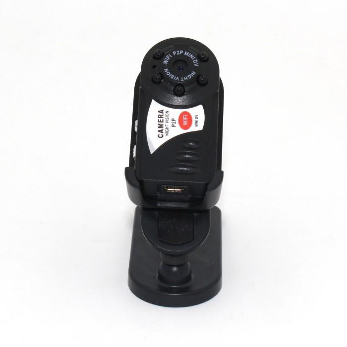 Q7 Mini Wifi DVR Kablosuz IP Kamera Video Kaydedici Kamera Kızılötesi Gece Görüş Kamerası Hareket Algılama Dahili Mikrofon