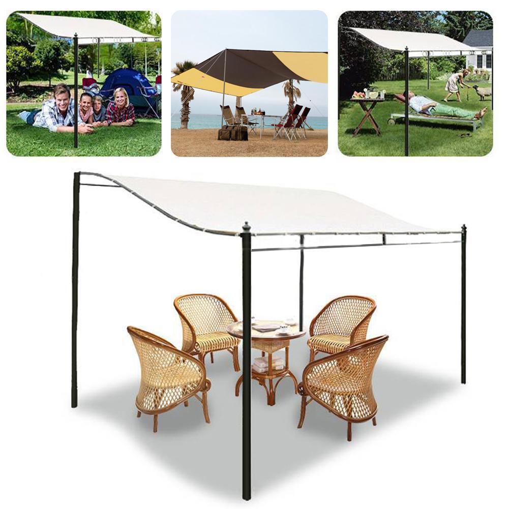 300D Canvas Canopy Top Cover wasserdichtes Zelt Sun Shelter im Freienpicknick-Zelt Top Dachabdeckung Markise und Balkon Garten-Werkzeug