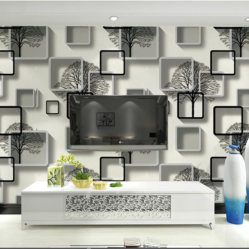 black white 3d abstract wallpaper wallcoverings