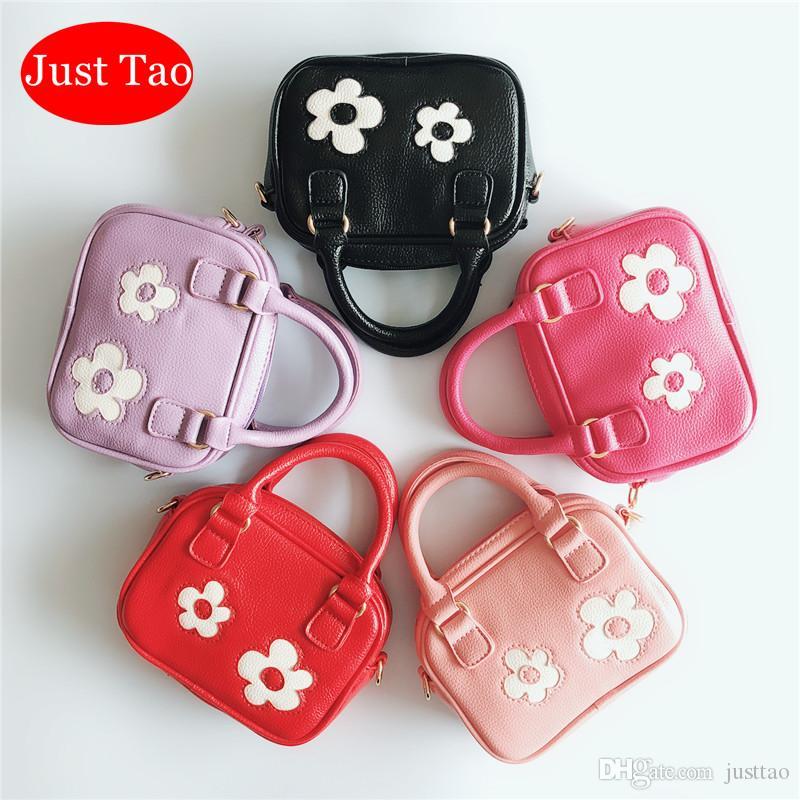 Sadece Tao! Çocuklar sevimli Çiçek Bag çanta bebek kız küçük kılıf Bebekler pu deri moda markası torbaları Gençler Telefon çantaları JT018