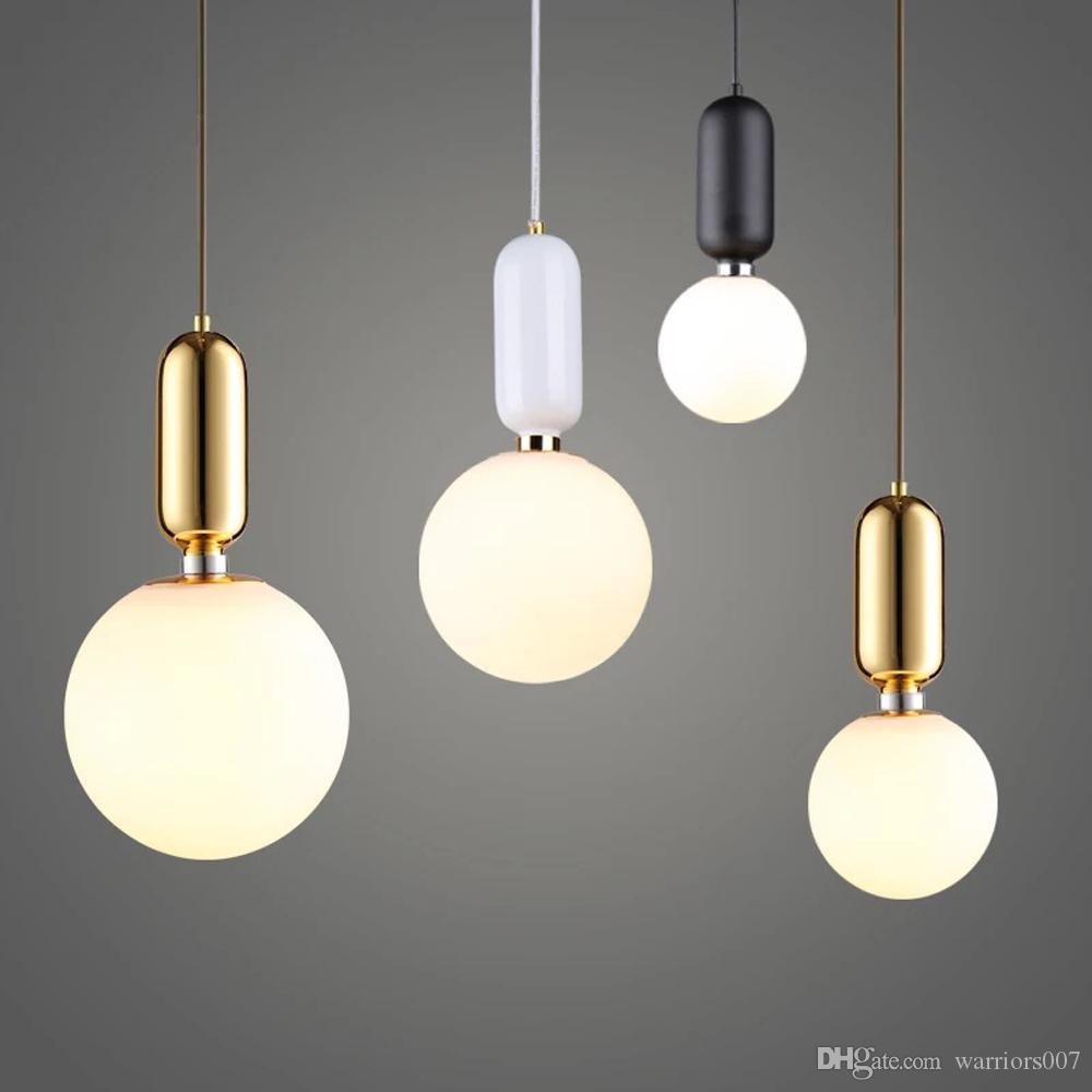 نوم الشمال LED أضواء قلادة متجمد الزجاج الصناعية Handin قلادة مصباح الحديثة Hanglamp غرفة المعيشة تعليق ومينير