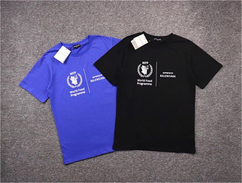 Роскошный 2020-х годов футболка унисекс США Сотрудничать Logo Высокое качество футболки Мода хип-хоп Мужчины Женщины Одежда хлопок Футболка Casual Tee Размер S-XL