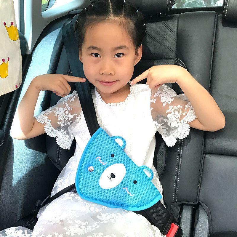 삼각형 베이비 키즈 자동차 안전 맞춤 시트 벨트 조절 장치 자동 안전 어깨 하네스 스트랩 커버 아이 목 포지셔너를 보호