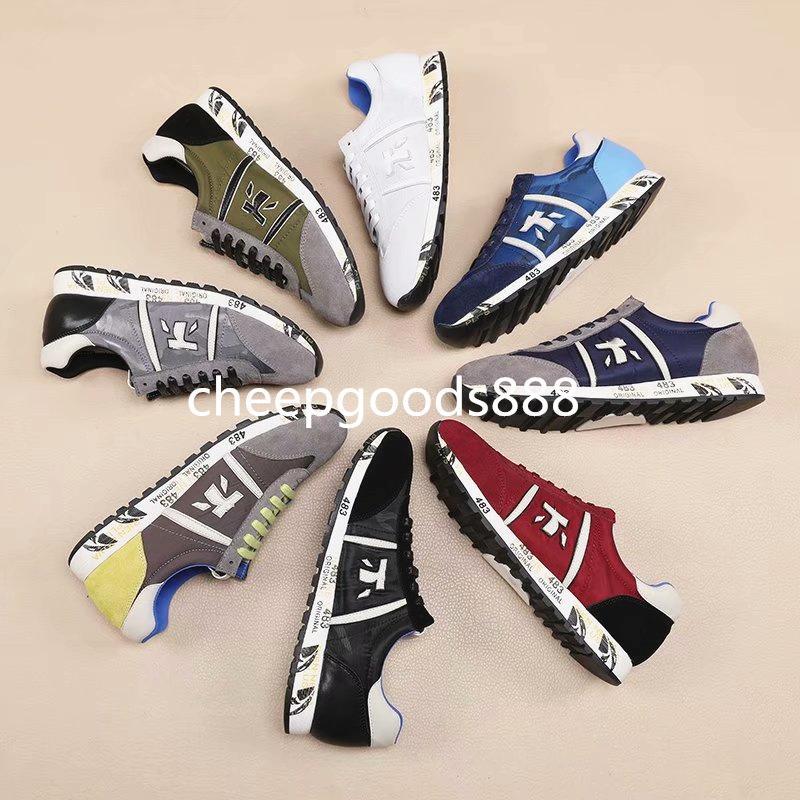 2020 Tasarımcı Lüks Man Günlük Ayakkabılar Deri Womens Moda Beyaz Deri rahat ayakkabı Düz Casual Sneaker Günlük Koşu