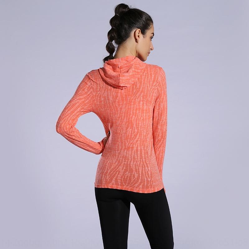 Ropa deportiva ropa de manga larga ropa de traje de yoga Yoga superior de la capucha Ropa OEM OEM de secado rápido Top DU7Lm