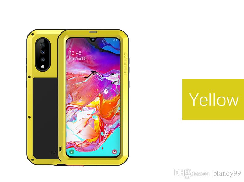 phone Cases For Samsung A70 Case LOVE MEI Shock Dirt Proof Water Resistant Metal Armor for Samsung S10 plus e 5G A9s A8s