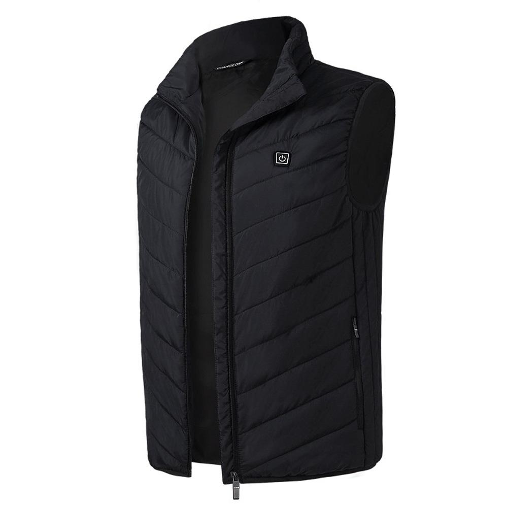 Vest Security Intelligence Men Outdoor Electric Heating Constant Temperature Warm Carbon Fiber Waistcoat Clothing USB Charge