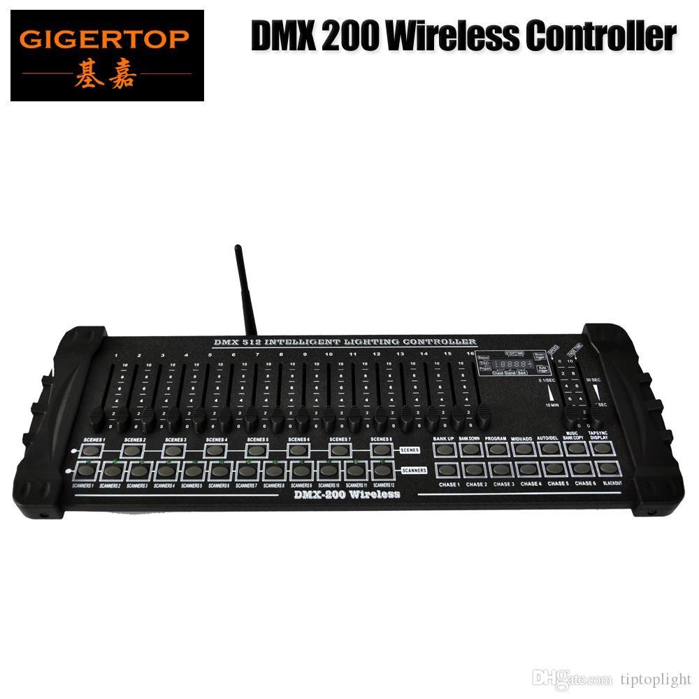 TIPTOP-Bühne Licht DMX512 / 1990 Standard 200 2.4G Wireless-Stadiums-Licht-Konsole Unterstützung Kabinett Kunststoffgriff 192 Ausgangskanäle