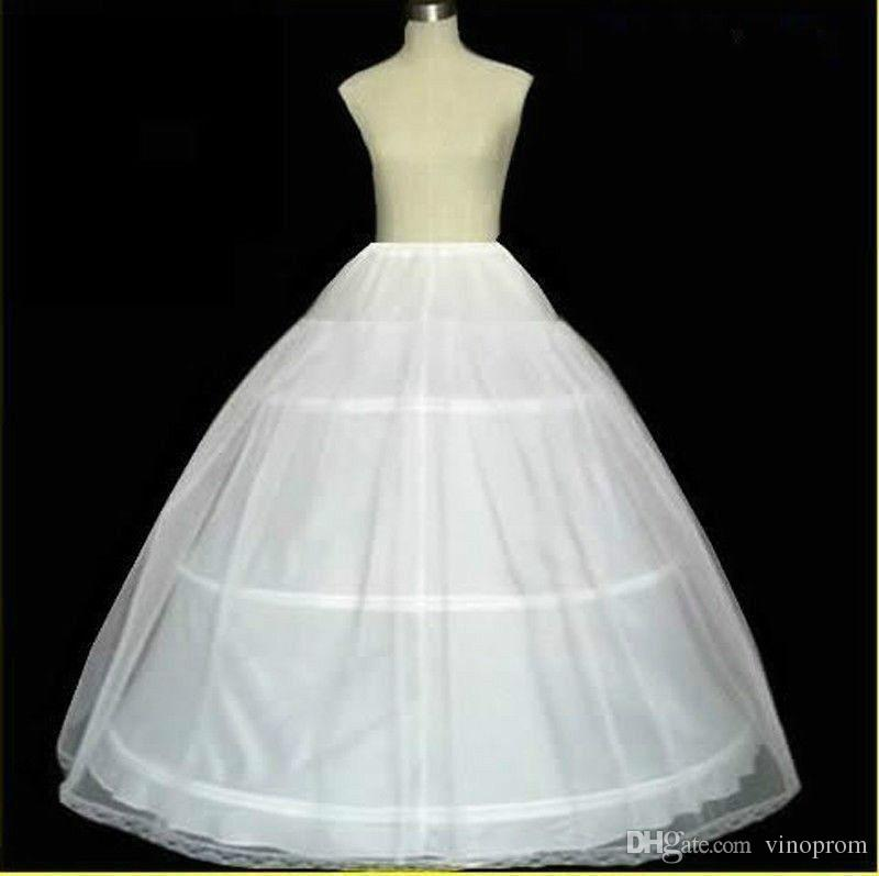 Nuovo arrivo White 3 Hoop 1 strato Petticoat Crinolina Sottogonna Accessori nuziali 2019 Accessori sposa Sposa