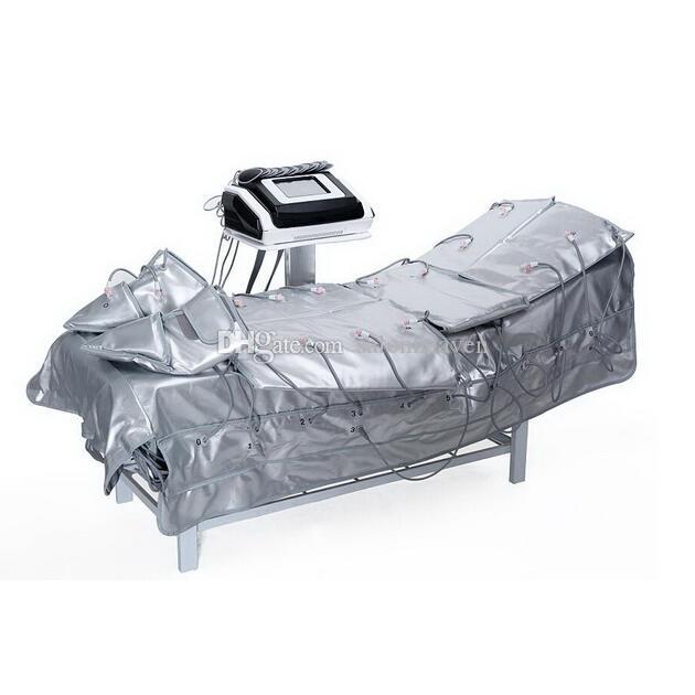 3 in 1 원적외선 프레지 고압 전기 근육 자극 EMS 사우나 담요 공기 압력 프레 폼 림프 배수 전신 몸체 마사지