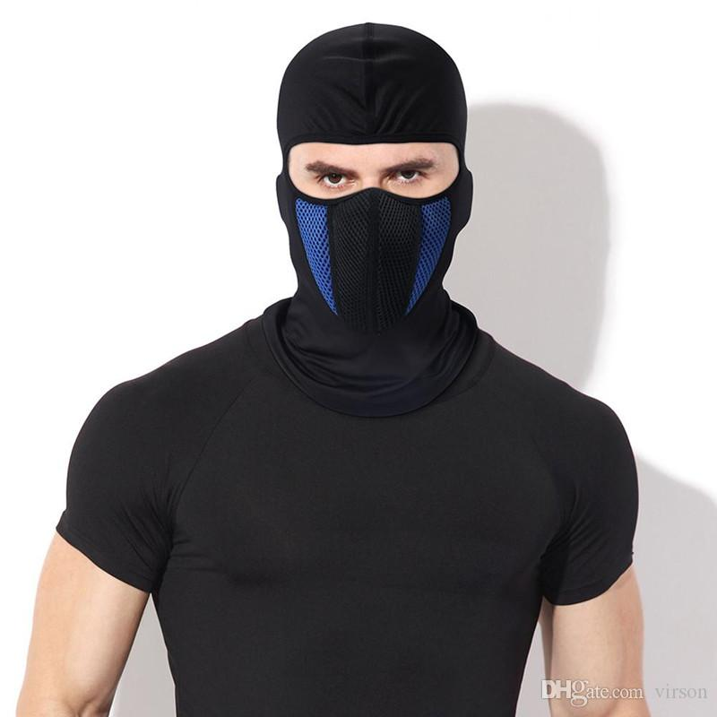 Black Winter Fleece Balaclava Vollgesichtsmaske Thermal Warmer Radfahren Hood Liner Sport-Ski-Bike Riding Snowboard-Schild-Hut Cap