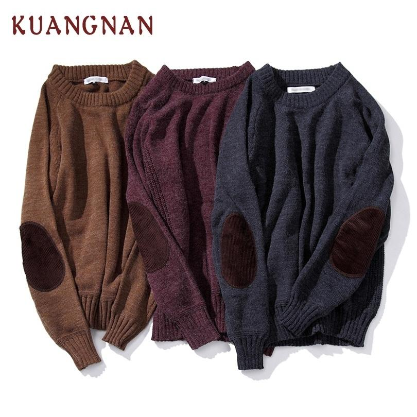 KUANGNAN Lapin pull en tricot hommes Pull homme 5XL Noël Pull hommes Vêtements d'hiver Pull Hommes Pull Patchwork 2018 V191118