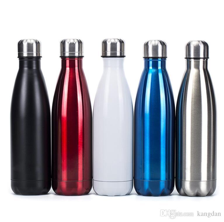 500 ml de 17 onças Cola garrafa de água à prova de vácuo copo de vidro de isolamento de viagem de parede dupla coque de aço inoxidável ao ar livre copo de isolamento térmico