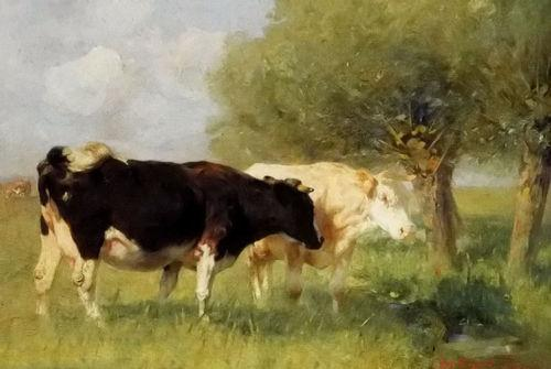 -.w-03070 Animal two cattle cow Home Decor Top Handpainted Handcrafts Art Oil Painting & HD Print Art Oil Painting On Canvas Wall Pictures