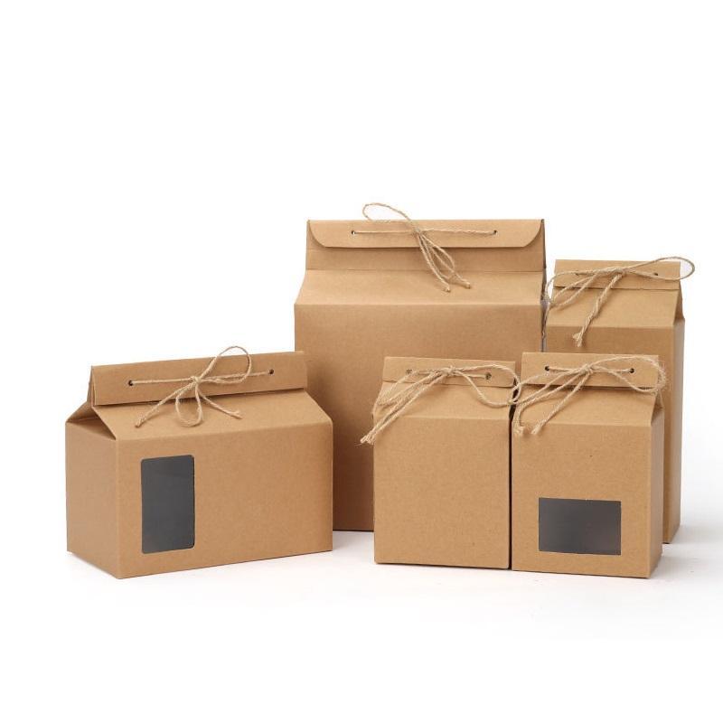 Papier Kraft Thé Emballage Carton Plié alimentaire noix Boîte Sac d'emballage papier WB2142 Se mettre debout
