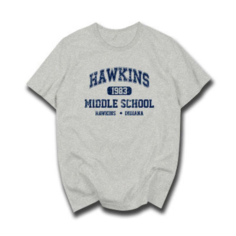 Stranger Things Hawkins High School Short Sleeve T Shirts Tee Tshirts Cotton Jersey Joggers Slim Size XS-2XL