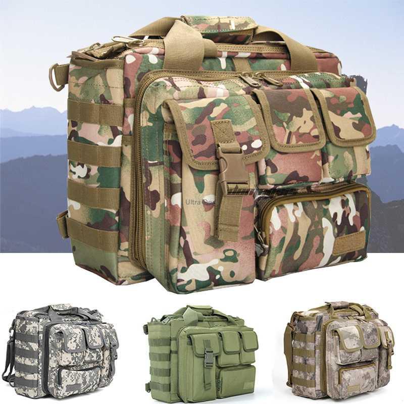 전술 배낭 몰리 나일론 메신저 하이킹 캠핑 어깨 가방 노트북 핸드백 서류 가방 등반 고사 사냥 가방