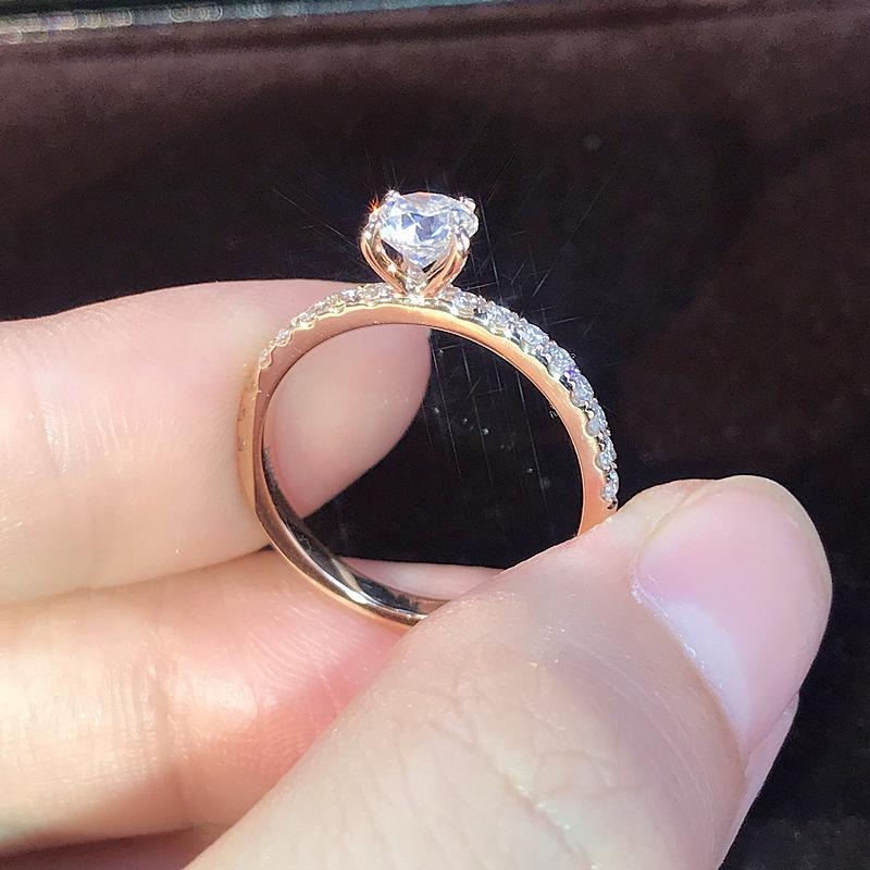 Personal collection Zhimu ornaments Simple S925 silver plated imitation diamond ring