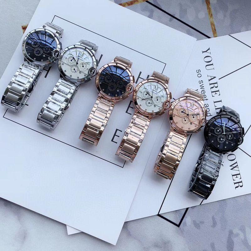 Catier Chronograph Arbeits Qualitäts-Edelstahl-Männer Spitzen Luxus-Uhren für Mann-Multifunktions beiläufige Art und Weise Quarz-Uhren relogio