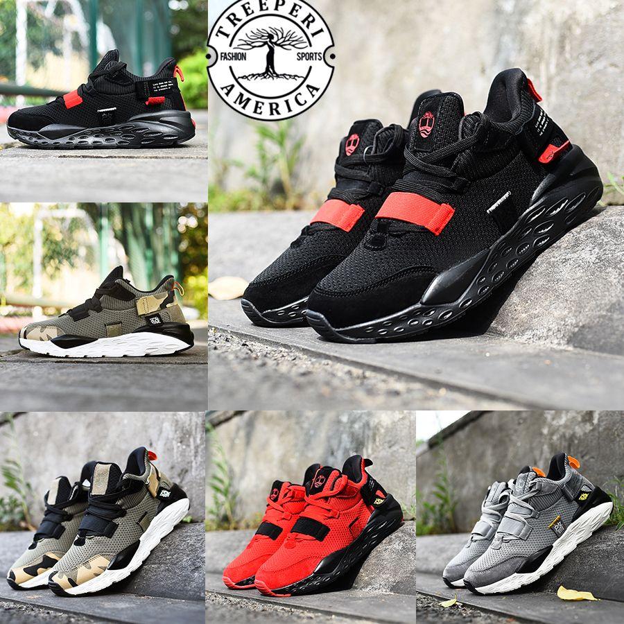 2020 treeperi Designer inspirar mens sneaker rua sapatos casuais ginásio criados vermelha legal cinza camo de oliva ao ar livre das mulheres dos homens do instrutor das sapatilhas