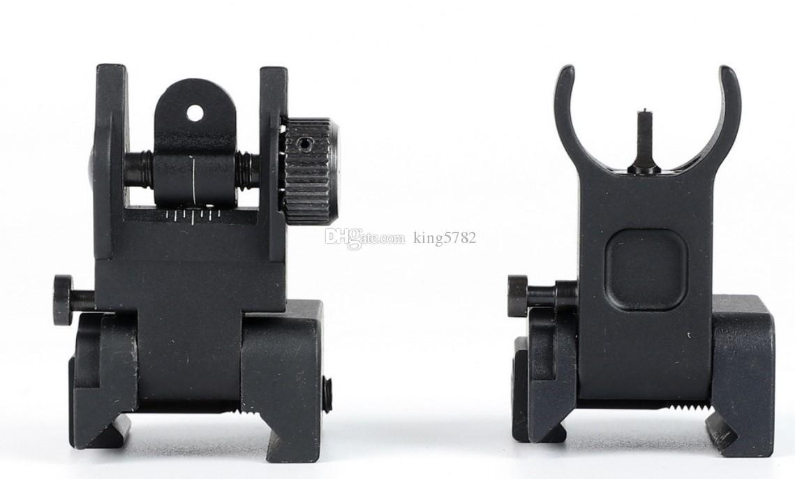 Taktisk Snabbt Implemen Flip up Låg profil Fram- och baksidan Standard Standard Tactical AR-15 Flat-top med vindjustering