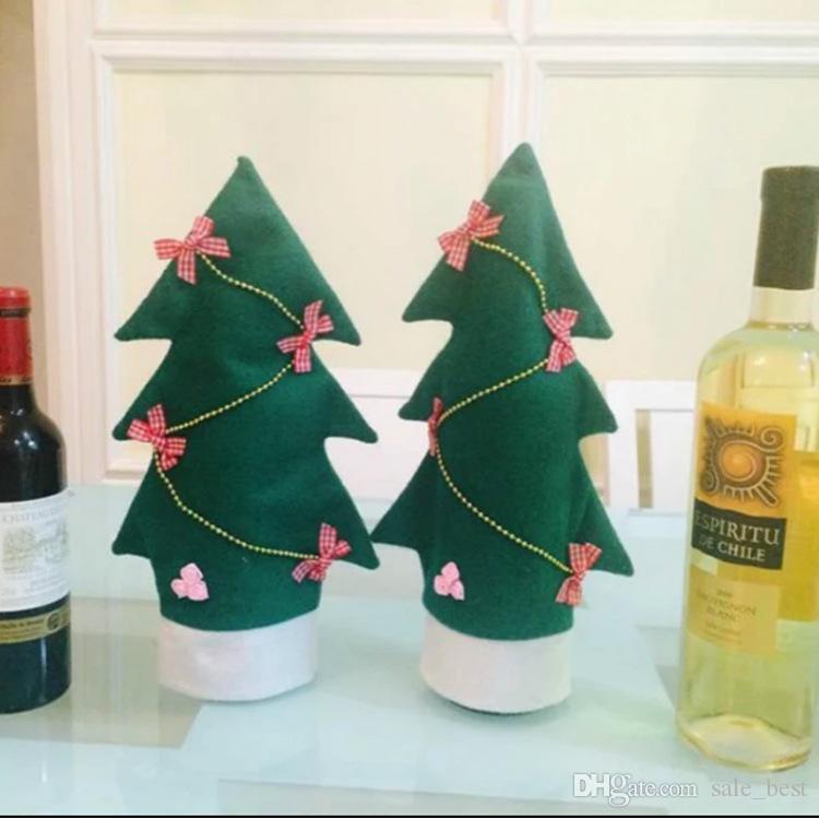 Winebottle Taschen Weihnachten Tabelle Hochzeit Dekorationen Artikel riginality Xmas Weihnachtsweinflasche Abdeckung Pouch BagChristmas Dekorationen Weinset