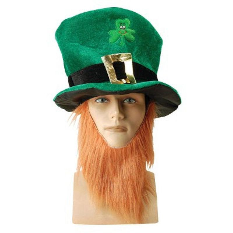 50pcs Klee Faux Langer Bart Hüte Stirnbänder St Patrick Day Party-Hüte Kostüm Dekoration