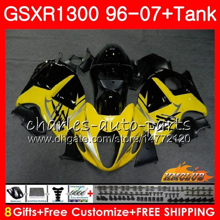 Carrozzeria per SUZUKI Hayabusa GSXR 1300 GSXR1300 96 97 98 99 00 01 07 24HC.86 giallo nero GSX R1300 1996 1997 1998 1999 2000 2001 2001 Carenatura