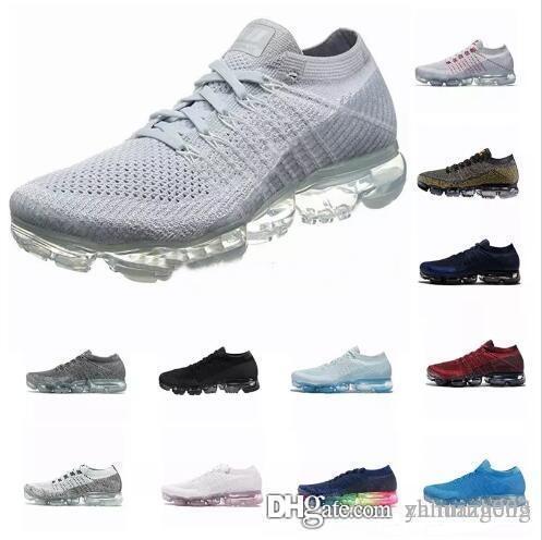 2019 2.0 Designer Chaussures hommes femmes nouveau blanc Noir gris bleu rose à tricoter formateurs baskets créateur de mode rhyton Chaussures coussinées