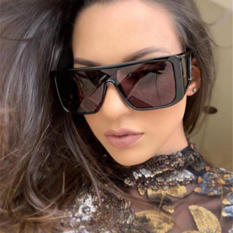 Kare Marka Tasarım Moda Güneş Kadınlar Erkekler Büyük Boy Kare Vintage Güneş Gözlükleri UV400 Shades Gözlükler