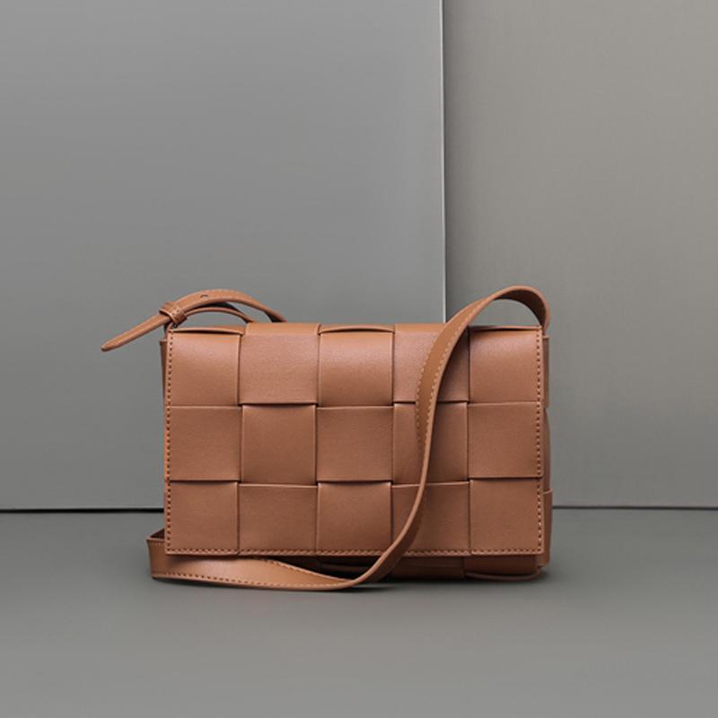 Модные сумки Дизайнеров-сумка Кошельков ретро женщины сумка плеча Woven Вязание плед Клетчатого сцепления Коммуникатор Crossbody Сумка Известные 2020