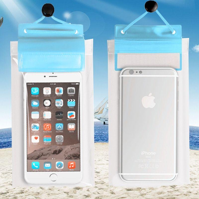 pvc completa bolsa transparente teléfono móvil bolsa impermeable de natación cubierta impermeable gran teléfono móvil Huawei