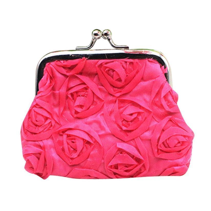 Pop2019 النائم # 5001 إمرأة روز زهرة صغيرة محفظة عملة محفظة قابض حقيبة يد حقيبة شحن