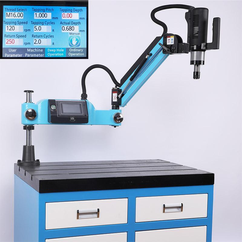CE 220 V M3-M12 Universal Type électrique Taraudeuse électrique Tapper Tapping machine-outil-travail Taps machine à fileter