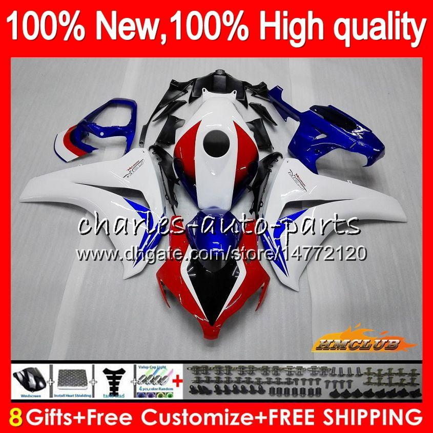 Cuerpo blanco nuevo azul Para Honda CBR1000RR CBR 1000 RR CC 1000CC 79HC.3 CBR1000 RR CBR1000RR 08 09 10 11 2008 2009 2010 2011 carenados OEM Kit
