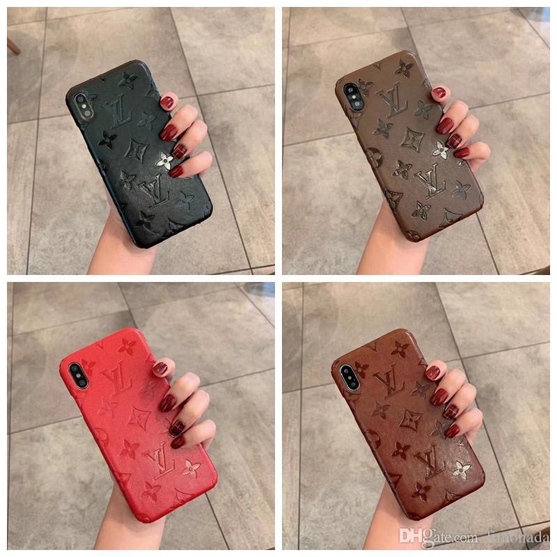 Para el caso del monograma clásico delgado de parachoques del teléfono Iphone 11 Pro Max Max XS / XR X 8/7/6 Plus prueba de golpes Protección completa del teléfono celular de la contraportada A02