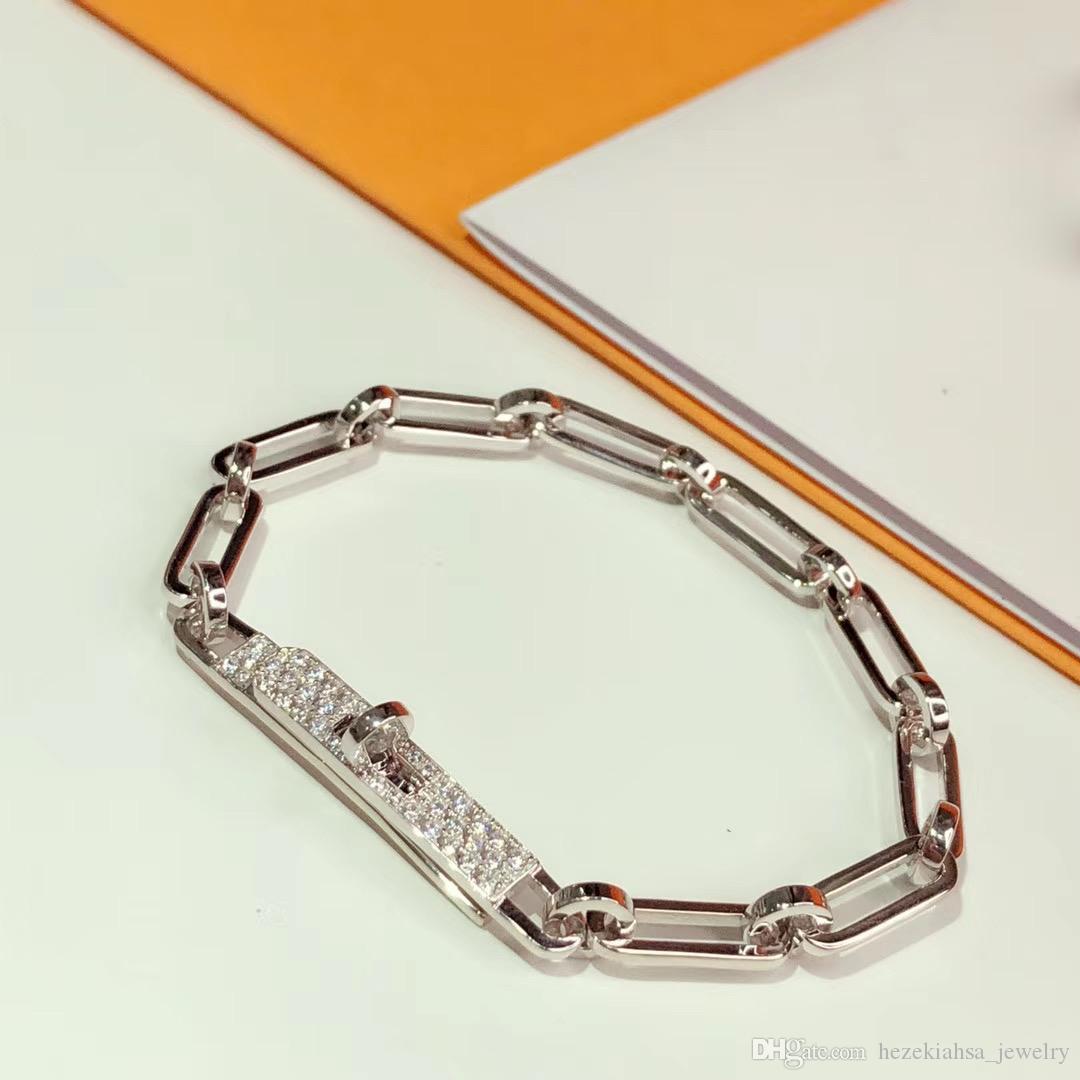 Hot luxuriöse für Frauen Brief Runde H Verschluss Schmuck S925 Silber-Armband-Set Frankreich Qualitäts Goldene Rose Gold Bessere Qualität Armband
