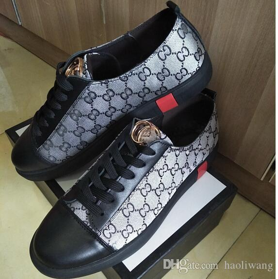 Vendez des chaussures décontractées de marque été nouvelle baskets tendance chaussures version coréenne bas-top chaussures en cuir de mode pour hommes, chaussures de sport, chaussures de randonnée G1.51