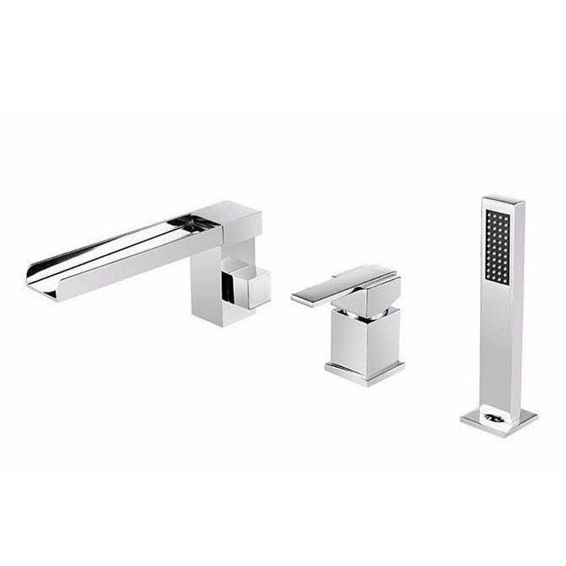 Bathtub Faucet Bath Shower Bathroom Shower Tap Set Waterfall Bronze Bath Faucet Mixer Robinet Banheira Faucet Chrome