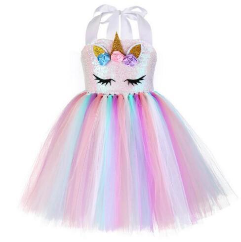 Vestito stampato DeFacto Girlls Unicorn and Rainbow