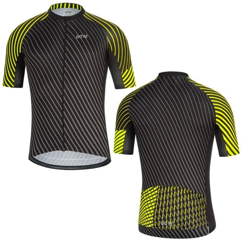 2020 رجل TEAM GORE دراجات JERSEY BIKE قصير كم قميص سباقات الدراجات جيرسي الملابس جاف سريعة برو مايوه ملابس