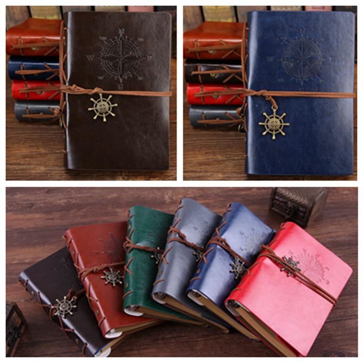Japanese and Korean diary books creative stationery retro Pirate notepads travel diary loose-leaf notebook School Supplies T2I5423