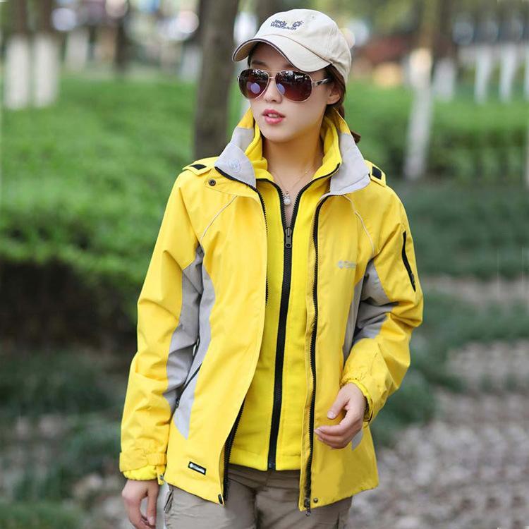 Ceketler Kadın Üç-in-One Açık Post Çıkarılabilir Omuz İki Parçalı Set Rüzgar Dayanıklı Su geçirmez Sonbahar Ve Kış Ceket Mountaineerin