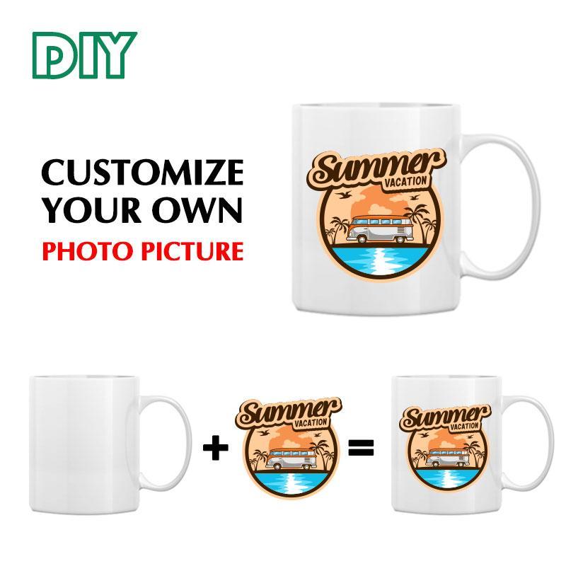 개인화 된 11oz 세라믹 커피 잔 DIY 사진 인쇄 찻잔 선물