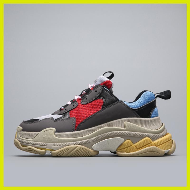 Diseñador de zapatillas de deporte de las mujeres de los hombres del papá zapatos parís Crystal Triple S 17FW de lujo baratos vendimia viejo abuelo Trainer en venta