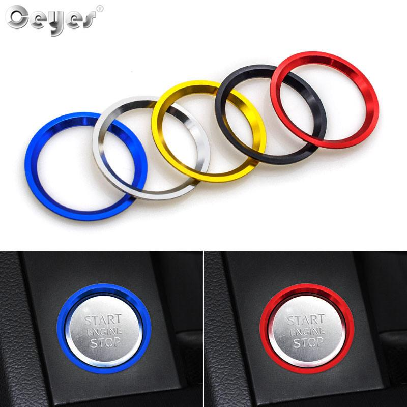 Auto Engine Start Stop Trim Covers Car Styling Case For Audi A4 A5 B9 A6 C7 2011- Decoration Interior Accessories