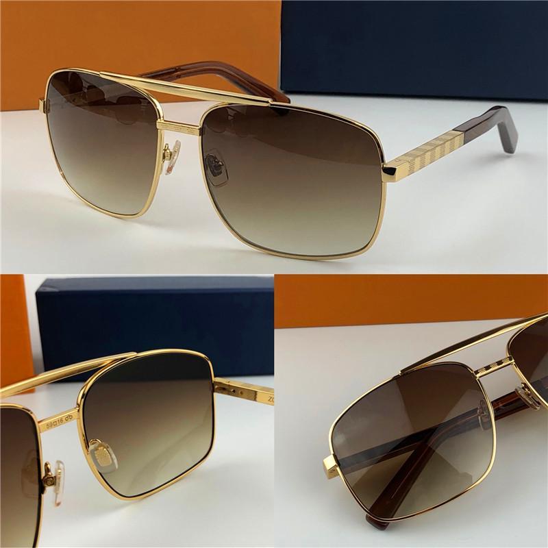 حار أزياء كلاسيكية النظارات الشمسية موقف النظارات الشمسية الذهب الإطار مربع معدن الإطار خمر نمط تصميم في الهواء الطلق نموذج كلاسيكي 0259